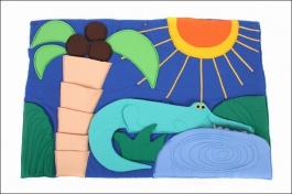 Dětský kapsář krokodýl