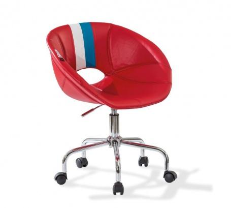 Detská stolička na kolieskach Rally - červená