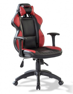 Kancelárske kreslo Rally - čierna/červená