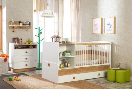 Detská izba Ellie III - biela / dub svetlý