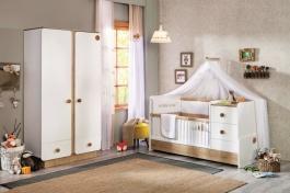 Detská izba Ellie I - biela/dub svetlý