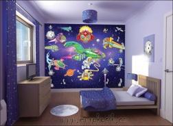 Dětská 3D tapeta na zeď Ufonci
