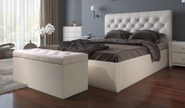 Čalúnená posteľ s úložným priestorom BEATRICE 180x200cm - béžová