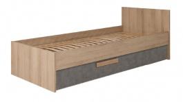 Detská posteľ so zásuvkou Aygo - buk pieskový/antracit