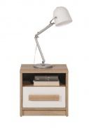 Nočný stolík Aygo - buk pieskový / biela
