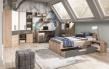 Nočný stolík Aygo - buk pieskový / biela v priestore