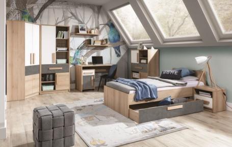 Študentská izba Aygo I - buk pieskový / biela / antracit