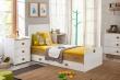 Postieľka Ellie rozložená na detskú posteľ, komodu a odkladací stolík