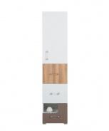 Skrinka Anabel 6 - brest/biela lux/cappucino