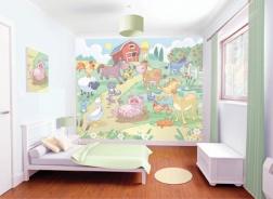 Dětská 3D tapeta na zeď Baby farma