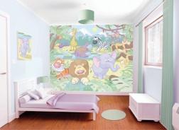 Dětská 3D tapeta na zeď Baby Jungle