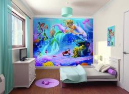 Dětská 3D tapeta na zeď Mořské panny