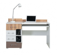 Písací stôl Anabel 13 - brest/biela lux/cappucino