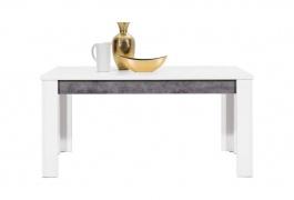 Jedálenský stôl s rozkladaním Brando - biela / betón
