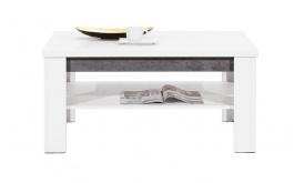 Konferenčný stolík Brando - biela / betón