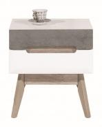Odkladací stolík Scandic - biela / betón
