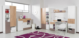 Detská izba Anabel A - brest/biela lux/cappucino