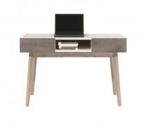 Konzolový stolík Scandic - biela / betón