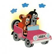 Dětská lampička Krtek v autě