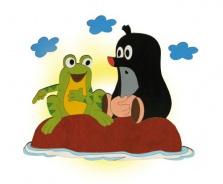 Dětská lampička Krtek a žába