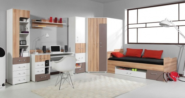 Detská izba Anabel B - brest/biela lux/cappucino