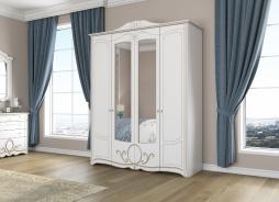 Skriňa BARBARA 4-dverová - biela