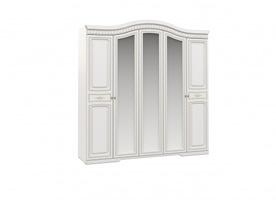 Skriňa DIANA 5-dverová - biela