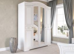 Skriňa DIANA 4-dverová - biela