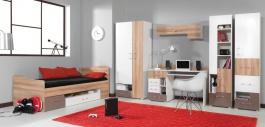 Detská izba Anabel D - brest/biela lux/cappucino