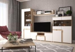 Moderná obývacia stena MARSEL - dub sonoma / biela