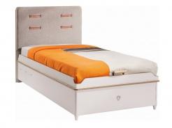 Detská posteľ Archie 100x200cm s úložným priestorom - biela/dub svetlý