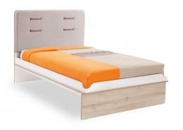 Detská posteľ Archie 100x200cm - biela/dub svetlý