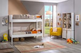 Detská izba Archie pre dve deti - biela / dub svetlý
