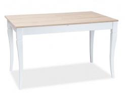 Jedálenský stôl rozkladací Ludwik 125x75 - dub sonoma / biela