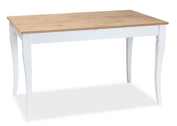 Jedálenský stôl rozkladací Ludwik 125x75 - dub zlatý / biela