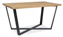 Jedálenský stôl MARCELLO 150x90 - dub masív / čierna