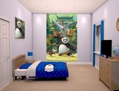 Dětská tapeta na zeď 6-ti dílná - Kund Fu Panda