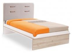 Študentská posteľ Archie 120x200cm - biela/dub svetlý