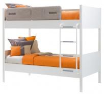 Detská poschodová posteľ Archie 100x190cm - biela / dub svetlý