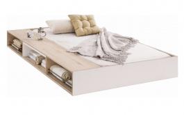 Zásuvka pod posteľ Archie 90x190cm s úložným priestorom - biela/dub svetlý