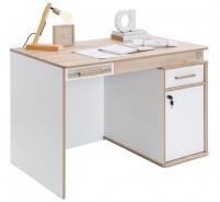 Rozkladací písací stôl Archie - biela/dub svetlý