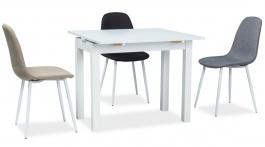Jedálenský stôl rozkladací KACPER 50x90cm - biely mat