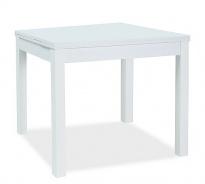 Jedálenský stôl rozkladací KACPER 90x90cm - biely mat