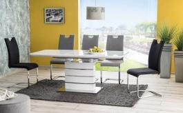 Jedálenský stôl LEONARDO rozkladací - biely