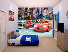 Dětská 3D tapeta na zeď Walltastic - Cars Racer