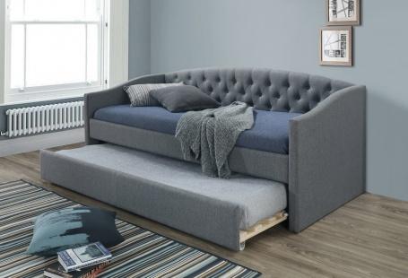 Rozkladacia čalúnená posteľ ALESSIA 90x200 - šedá