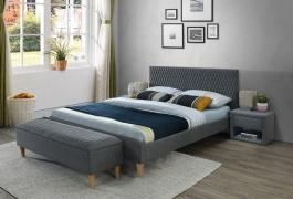 Čalúnená posteľ Azurro 160x200 - sivá / dub