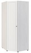 Rohová šatníková skriňa PRAGA KIDS WK-725 - jaseň / biela