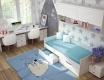 Poschodová posteľ PRAGA KIDS KP-723 - jaseň / biela