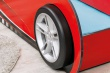 Detská posteľ auto SUPER s prístelkou 90x190cm - červená